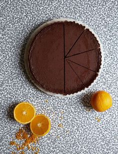 Impress your dinner party guests with this rich and decadent chocolate orange tart with a Triple Sec cream, as seen on the hit BBC series, Britain's Best Home Cook. Chocolate And Orange Tart, Chocolate Ganache Tart, Chocolate Pastry, Chocolate Cheese, Decadent Chocolate, Chocolate Recipes, Tart Recipes, Pastries Recipes, Vegan Recipes