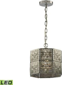 ELK 45237 - 1-LED Glass Tile Mini Pendant Light - Polished Chrome. See all popular light fixtures and get home lighting ideas for indoor and outdoor lights at Mason Luxury Homes. Find lighting for all budgets for your bedroom, bathroom, foyer, dining and living room. #lightfixtures #lighting #decor #lights #remodeling #pendantlight
