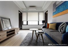 俐落輕美式_美式風設計個案—100裝潢網 Sofa, Couch, Furniture, Home Decor, Settee, Settee, Room Decor, Couches, Home Interior Design
