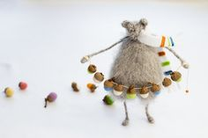 Hey, I found this really awesome Etsy listing at https://www.etsy.com/listing/170529924/rat-with-acorns-garland-mohair-knitted