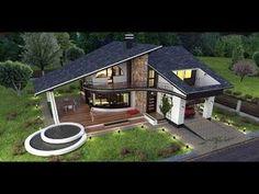 Casa ta de vis | episodul 39 | Proiecte de case personalizate | Arhitect Gabriel Georgescu & Echipa House Structure Design, House Roof Design, Village House Design, Facade House, Modern House Design, Architectural Design House Plans, Architect Design, Casas Country, House Plans Mansion