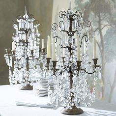 Candelabras for the grand dining table