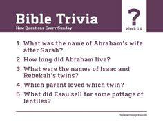 Answers here! http://www.twosparrowspress.com/2016/06/bible-trivia-week-14/ #BibleTrivia #Genesis #Abraham #TwoSparrowsPress