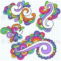 https://flic.kr/p/7tL1aL | Hand-Drawn Notebook Doodle Swirly Design Elements- Vector Illustration by blue67design | www.facebook.com/jessvolinskiart