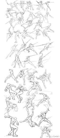 Battle poses