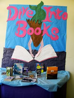 Library Displays - Dive into books