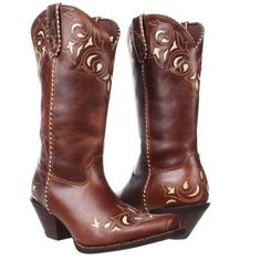 c9e3039ecc7 Durango Ladies Embroidered Brown Sassy Western Boot RD5414