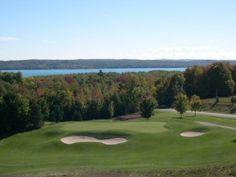 A-GA-MING Golf Resort Kewadin Michigan.  Three beautiful courses - Torch, Sundance and Antrim Dells