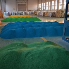 We supply the  cost-efficient EPDM rubber granules and Polyurethane Glue. More information: www.coloredgranules.com