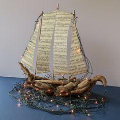 Καραβάκι απο ξύλα θαλάσσης και χαρτί.  Σαμαρτζή - Βιβλιοπωλείο - Hobby - Καλλιτεχνικά: ΙΔΕΕΣ ΓΙΑ ΧΕΙΡΟΤΕΧΝΙΕΣ - ΧΑΛΚΙΔΑ