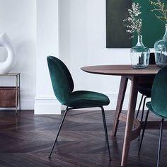 """595 Likes, 11 Comments - Houz AS (@houzoslo) on Instagram: """"So elegante in green velvet - the Beetle chair designed by awardwinning Gamfratesi for…"""""""