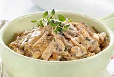 Soppstuing Risotto, Meat, Chicken, Ethnic Recipes, Food, Meals, Yemek, Buffalo Chicken, Eten