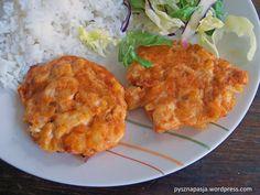 Kotleciki drobiowe z cebulką i serem do ryżu