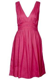 Naf naf robe fluide sans manches noeud pailleté rose pivoine