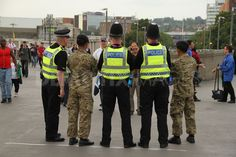 Security at Olympic venues. Thousands watch Team GB beat Brazil 1-0 in women's group E football