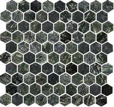 U Hexagon Green Marble Polished