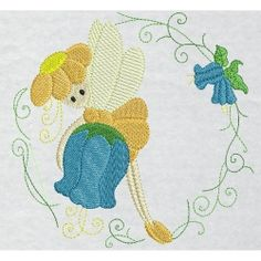 {Downloaded Under- floralfairy3.zip K.H.}  Nature Designs Machine Embroidery Designs, Embroidery Patterns, Freebies, Crochet Necklace, Fairy, Stitch, Floral, Projects, Angels