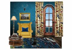 Check out this moodboard created on @olioboard: Cozy Blue Reading Nook by fauxdonna