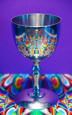 reflections of the surroundings in a silver Indonesion wine-glass by fototon2010 on Flickr.