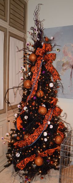 Halloween decked out tree!