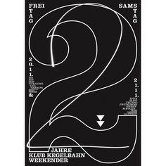 Collab w/ @dddahler  #klubkegelbahn #thestraightandnarrow #zweikommasieben #2 #jubiläum #poster #weltformat #clarendon #type