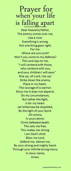 Prayer for when your life is falling apart -  Isaiah 49:25