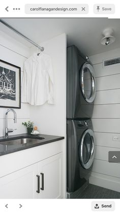 Optimize your small space & learn trick how to organize your dryer sheets, laundry room cabinet & other laundry room essentials Laundry Room Shelves, Laundry Room Remodel, Laundry Room Cabinets, Laundry Room Organization, Laundry In Bathroom, Laundry Closet, Laundry Area, Laundry Basket, Modern Laundry Rooms