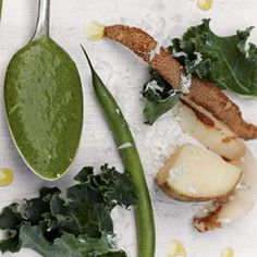 Unconventional Baby Food recipes:  Green Bean, Potato, and Kale Puree