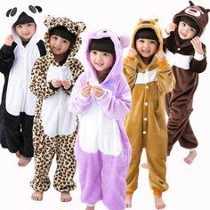 cf53aa8f000f49 New Flannel Pajamas for child Flannel Unisex Winter Cartoon panda Pig  Stitch unicorn Animal women pajamas Onesie Girls sleepwear-in Pajama Sets  from Women's ...