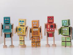 ollibot robots paper boxes printable