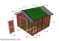 10x20 shed plans outdoor shed plans free pinterest for Free shed design software with materials list