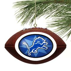 """NFL Detroit Lions Touchdown Mini Replica Football Ornament by Football Fanatics. Save 1 Off!. $8.95. Officially licensed NFL product. Approximately measures 4.5"""" x 3.5"""". Ready to wrap. Team colors and logo. Pre-packaged case. Detroit Lions Star Touchdown Mini Replica Football OrnamentPre-packaged caseApproximately measures 4.5"""" x 3.5""""Officially licensed NFL productMade of polystyreneImportedGreat gift ideaReady to wrapTeam colors and logoMade of polystyreneApproximately measures 4.5"""" ..."""