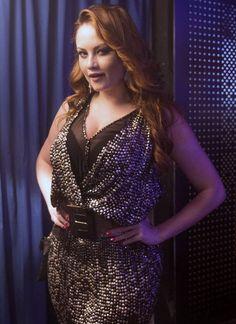 Ellen Rocche como Leonora Lammar, a ex-BBB que vai interpretar em 'Haja Coração' (Foto: Renato Rocha Miranda/ TV Globo)