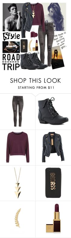 """""""#35 Road Trip"""" by charlotte-sk ❤ liked on Polyvore featuring H&M, Topshop, Miss Selfridge, With Love From CA, Joanna Laura Constantine, Tom Ford, Essie and Grace"""