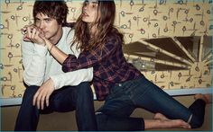 MGMT frontman Andrew VanWyngarden joins model Andreea Diaconu for Current/Elliott's fall-winter 2016 campaign.