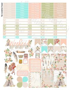 Tribal Printable Weekly Sticker Kit Boho by TheWanderlustPlanner