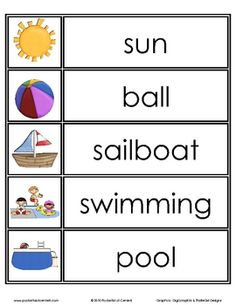 Summer Word Wall Words