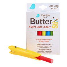 ButterStix™ zero dust chalk. Magnetic Chalk Holder in yellow.