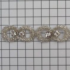 6 YARDS of  Silver Link Crystal Beaded Trim by allysonjames, $238.98