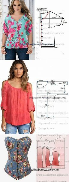ideas for sewing tutorials clothes women simple Dress Sewing Patterns, Blouse Patterns, Clothing Patterns, Robe Diy, Sewing Blouses, Diy Vetement, Diy Couture, Schneider, Diy Dress