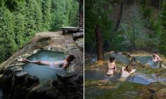Welcome to heaven on earth: Umpqua Hot Springs, nestled in the middle of a lush forest - Posted on Roadtrippers.com!