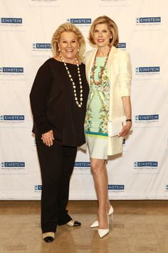 "Carol Roaman, President, Women's Division, Albert Einstein College of Medicine, with 2014 Spirit of Achievement honoree Christine Baranski, acclaimed actress and star of the hit TV series ""The Good Wife."""