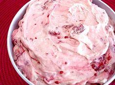 Raspberry Vanilla Jello Salad Recipe | Just A Pinch Recipes