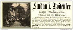 Original-Werbung/ Anzeige 1907 - EVANGELISCHES MÄDCHENPENSIONAT LINDA IM BODENSEE - ca. 115 X 45 mm