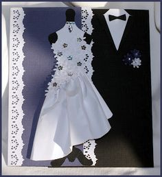 Wedding Card - that dress is AMAZING! Love!