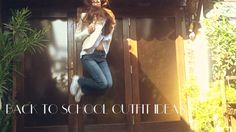 Back to school outfit ideas • How to style Jeans • 3 Looks + Hair Tutorial!