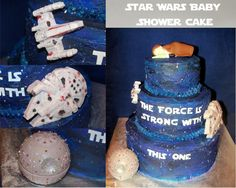Star Wars Baby Shower Cake. Www.facebook.com/foreversweetscakes
