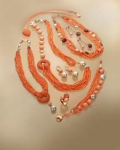 marakò bijoux con pietre semipreziose Jewelery, Jewelry Necklaces, Beaded Necklace, Beaded Bracelets, Coral Jewelry, Seed Bead Jewelry, Beaded Jewelry Designs, Necklace Designs, Jewelry Model