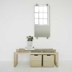 Skagerak - Miroir vertical Cutter et banc.