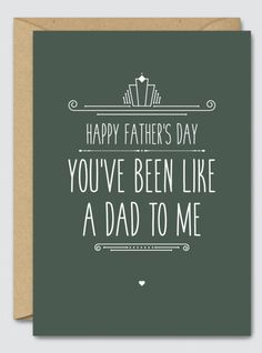 Happy Fathers Day Youve Been Like A Dad To Me Cellophane WrapHappy FatherFunny CardsFree